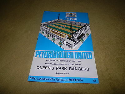 Peterborough Utd v QPR - League Cup 2nd round at London Road in 1968