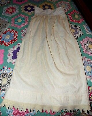 Antique Victorian 1800s Unique Beautiful Romantic Baby Christening Dress Skirt