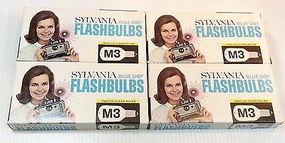Sylvania M3 Blue Dot Flashbulbs 12 per package Lot of 4 Packages Vintage NIB