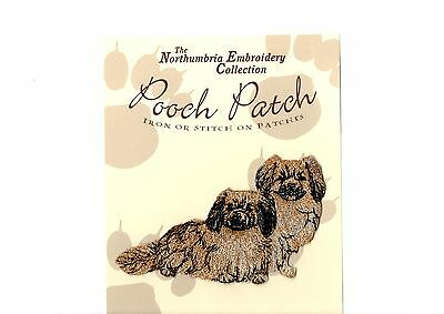 Tibetan Spaniels  EMBROIDERED  Pooch Patch