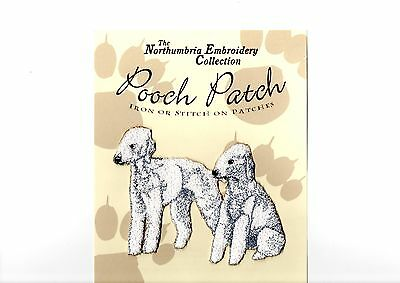 Bedlington Terriers EMBROIDERED  Pooch Patch