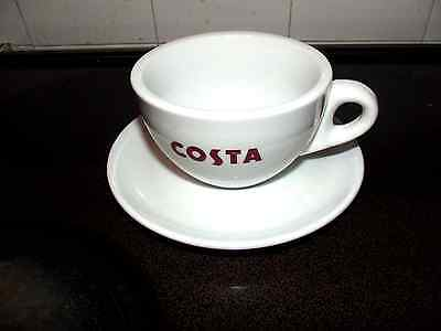 Costa Coffee 3 Bean Logo Cup and Saucer 4''