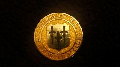 Bramley Rl Supporters Club Rugby League Pin Badge
