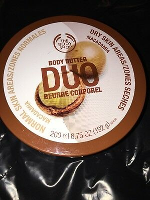 Body Butter Macadamia Body Shop Duo 200ml Sealed