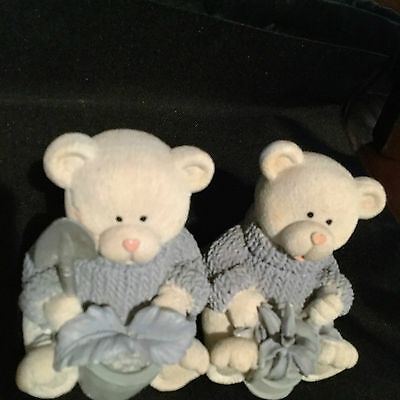 """bear ornaments with garden tools 4 """" high"""