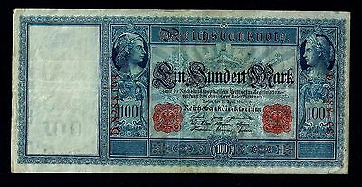 Reichsbanknote Germany - 21 April 1921-  Red Seal-100 Mark //63