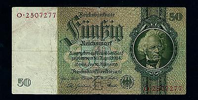 Reichsbanknote Germany - 30 Marz 1933 -  50 Mark-Letter E //41