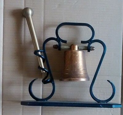 BRASS BELL  with brass hammer    ----   dinner - shop  -attention !