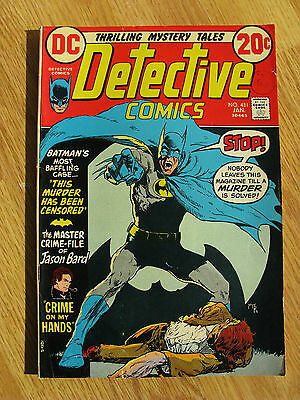 Detective Comics #431  - Batman - This Murder Has Been Censored - Denny O'Neil