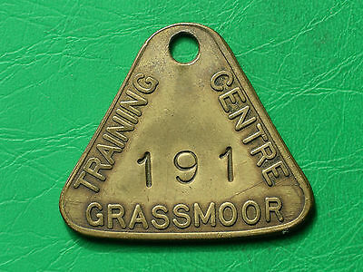 Grassmoor Training Colliery brass embossed pit check miners coal mining token