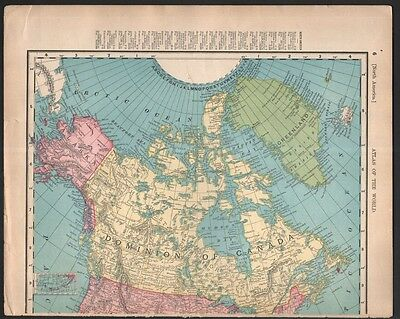 Canada OR Shipping Routes Map ORIGINAL c1906 Colored