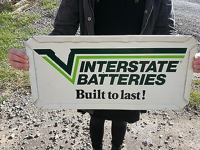 Vintage,  Interstate Batteries Sign!!!! Double Sided!!!