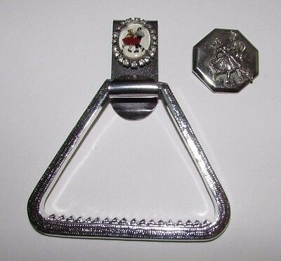 Vtg Square Dancing Jewelry Clips or Bolo Slide Lucite