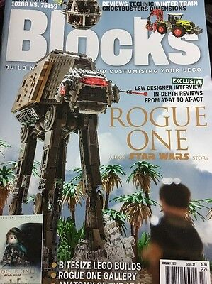BLOCKS Mag Issue 27 Lego Building Jan 2017 Star Wars Rogue One Death Star