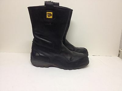 JCB Black Waterproof Leather Steel Toes Safety Boots (size 12)