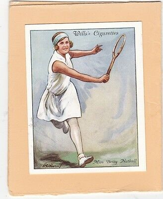 WILLS.SCARCE CARD FROM LAWN TENNIS 1931.(L).No.18.BETTY NUTHALL. CAT £10.00