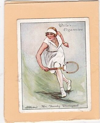 WILLS.SCARCE CARD LAWN TENNIS 1931.(L).No.24.FEARNLEY WHITTINGSTALL. CAT £10.00