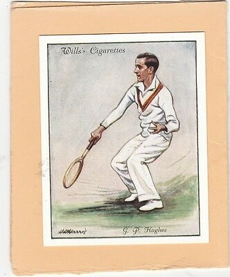 WILLS.SCARCE CARD FROM LAWN TENNIS 1931.(L).No.11.G.P. HUGHES. CAT £10.00