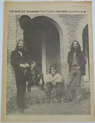 """The Beatles """"Something/ Come Together"""" full-page UK ad 1969 + Bonus"""