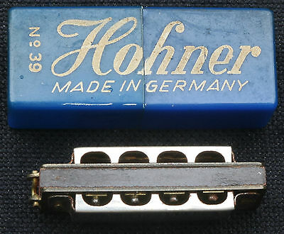 """Vintage Hohner Germany Miniature """"Little Lady"""" Harmonica in Box #39 ~ Excellent"""