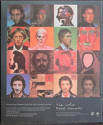 "The Who ""Face Dances"" full-page ad US 1981"