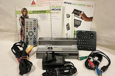 Archos 605 DVR Docking Station With Cables Remotes, Power & Instructions