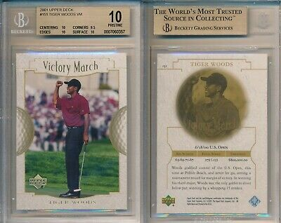Tiger Woods 2001 Upper Deck Victory March 151 Rookie Card rC BGS 10 Pristine QTY