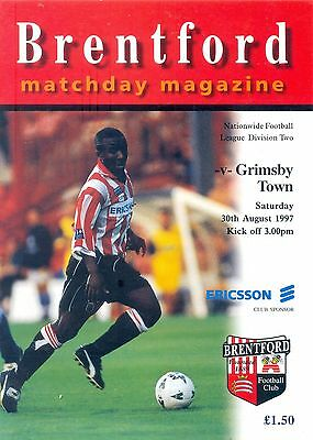 BRENTFORD v GRIMSBY TOWN Division two 30 August 1997