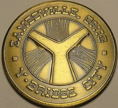 Zanesville Ohio 100th Anniversary Solid Bronze Medallion~Y Bridge City~Free Ship