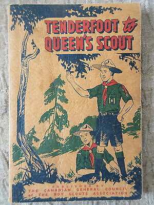 Old 1953 Canadian Boy Scouts Tenderfoot to Queen's Scout Book