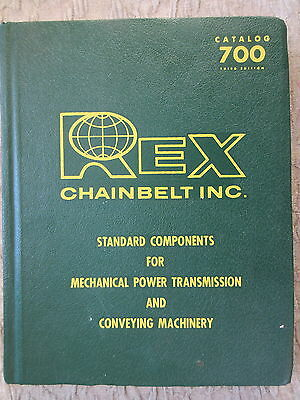 Old 1968 Catalog Rex Chainbelt Components Mechanical Power Transmission Conveyin