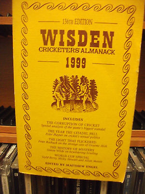 Wisden 1999 Cricketers Almanack Softback
