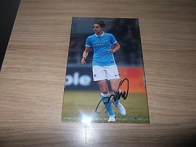 Manchester ladies fc & Holland Tessel Middag 6x4  signed action photo