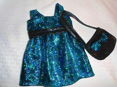 Handcrafted American Girl Doll Our Generation Doll Outfit Party Dress & Purse