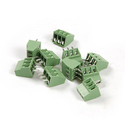 10X 3 Pin Pitch 2.54mm Universal Screw Terminal Block Connector PCB Mount