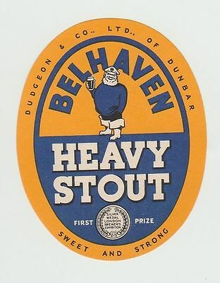Beer Label: Dudgeon & Co, Belhaven Brewery, Dunbar, Heavy Stout 72mm tall