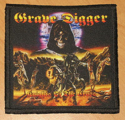 "GRAVE DIGGER ""KNIGHTS OF THE CROSS"" silk screen PATCH"