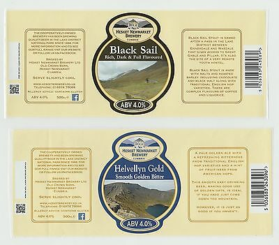 Beer Labels: 4 x Hesket Newmarket Brewery, Cumbria