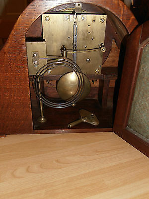 Large Art Deco Oak Cased Mantel Clock With Astral Movement for spares or repair