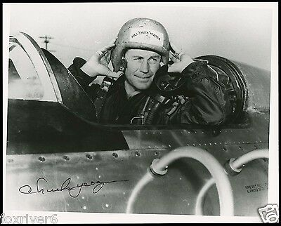 CHUCK YEAGER Signed Photograph - First Faster Than Sound / US Air Force preprint