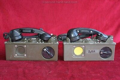 2 Field Radio Phones TA-312/PT, normal condition, Telephone Field phone