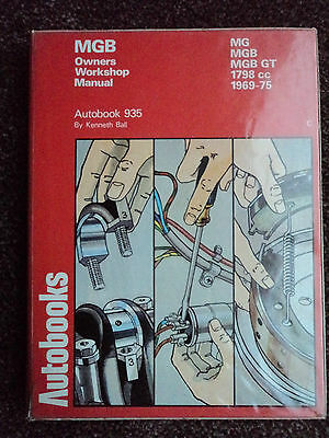 MGB Autobooks Workshop Manual  FREE POSTAGE