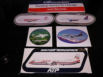 6 airline stickers