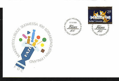 Finland First Day Cover Fdc 1991 Kittens Kiss-Kiss Sweet Cats