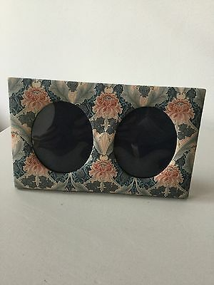 Vintage Liberty Of London Fabric Double Photo Frame