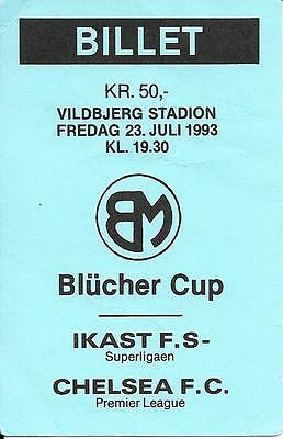 Ticket Ikast v Chelsea Friendly 1993/94 - Blue ticket