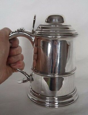 George Ii Style Sheffield 1903 Sterling  / Solid Silver Tankard / Cup / Mug