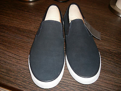 BNWT M&S Navy Blue Slip On Real Suede Casual Shoes size 8/42, RRP £25