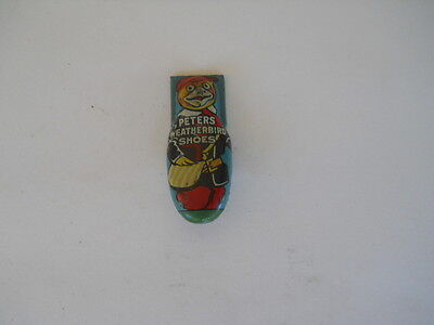 Antique Peters Weatherbird Shoes Toy Clicker