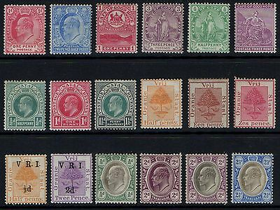 BRITISH  AFRICA  OLD  MINT  COLLECTION     L4b.
